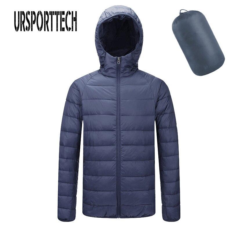 New Fashion Ultra Light Down Jacket Men Autumn Winter Hooded Waterproof Down Jackets Male Casual Winter Warm Down Coat Big Size