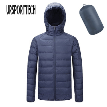 New Fashion Ultra Light Down Jacket Men Autumn Winter Hooded Waterproof Down Jackets Male Casual Winter Warm Down Coat Big Size цена 2017