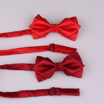2020 New Fashion Designer Men's Bow Ties Double Fabric Solid Color Arrow Bow Tie Wedding Bridegroom Butterfly Tie with Gift Box