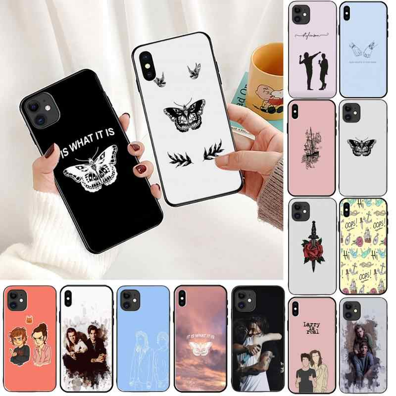 YNDFCNB Larry Stylinson Phone Case For iPhone 11 8 7 6 6S Plus X XS MAX 5 5S se 2020 11 12pro max iphone xr case