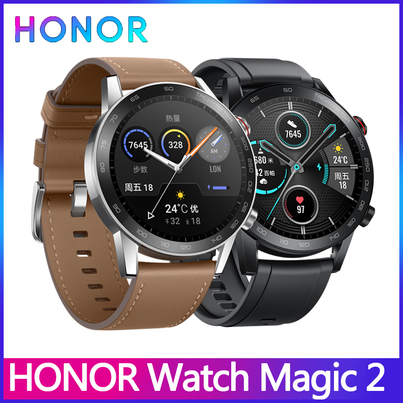 In stock <font><b>Huawei</b></font> Honor <font><b>Watch</b></font> Magic <font><b>2</b></font> Smart <font><b>Watch</b></font> GPS 46mm <font><b>NFC</b></font> payments Bluetoot Indie music playback Working 14 Days Message image