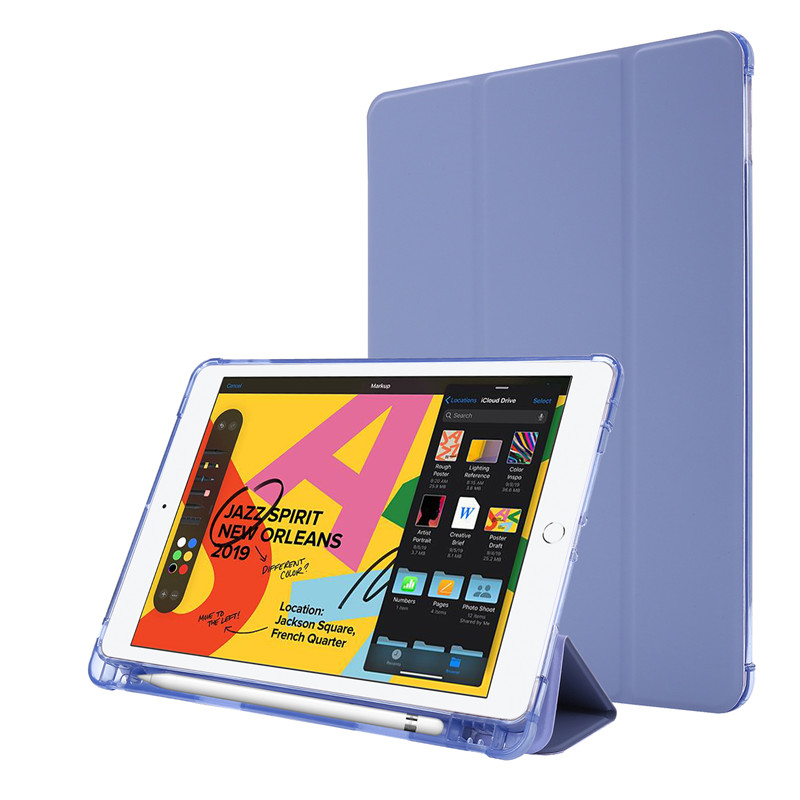 purple Green For iPad Case 7th Generation Flip Stand Protective Case with Pencil Holder Smart Cover For iPad