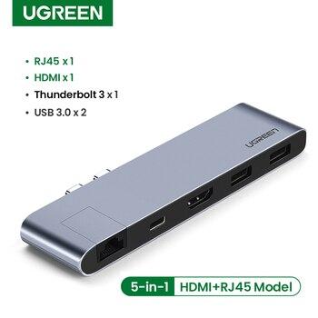 Ugreen USB typ C Hub podwójny USB-C na Multi USB 3.0 HDMI HUB dla MacBook Pro Air Adapter Thunderbolt 3 Dock USB C 3.1 Port type-c