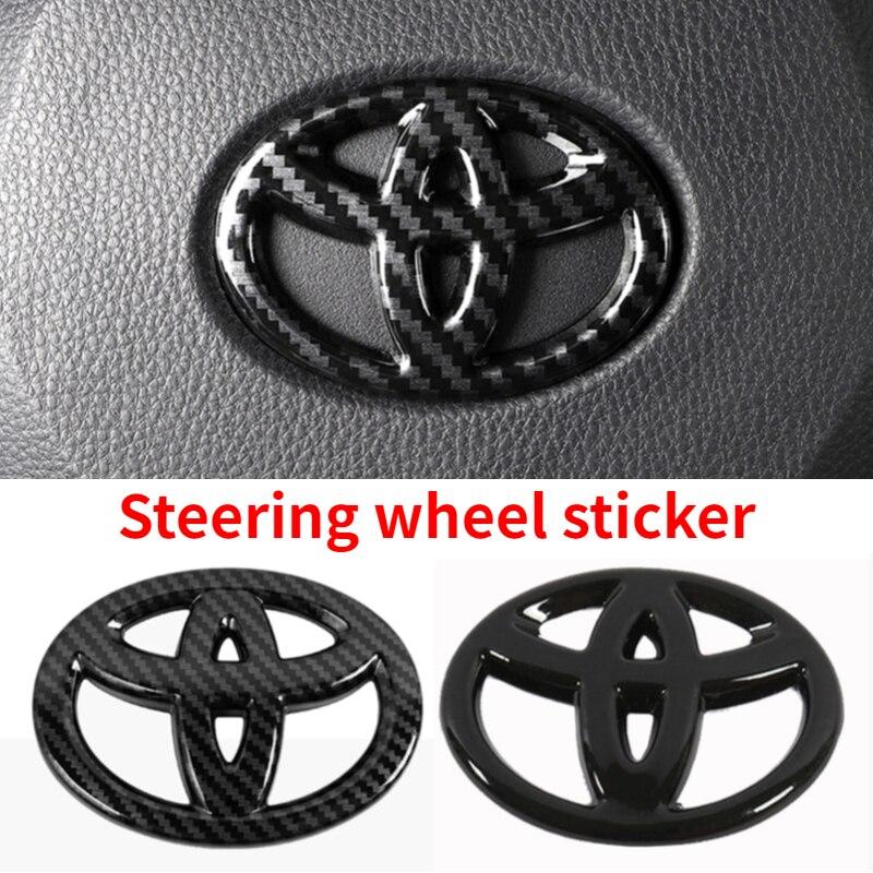 Car Steering Wheel Sticker For Toyota Corolla Camry Rav4 Yaris Auris Corolla Land Avensis Prius Prado 120 Hilux CHR Accessories