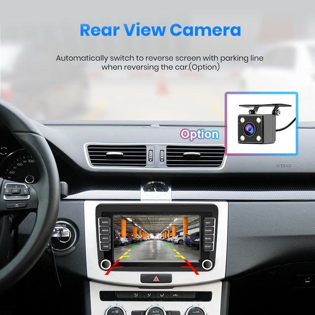 Podofo 2Din Android Car Radio GPS 2din Car Multimedia Player Autoradio For VW/Volkswagen/Golf/Passat/SEAT/Skoda/Polo car Stereo