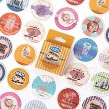 45Pcs/box Vintage Modern Paper Sticker Scrapbooking Seal Cute DIY Bullet Journal Decorative Adhesive Stationery Supplies