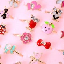 Craft-Toys Star Crystal-Rings Cats Diy Kids Cartoon Children Rabbit Heart Flower Fashion