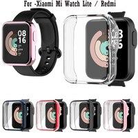 Funda protectora de pantalla transparente de TPU para Xiaomi Mi Watch Lite /Redmi Watch, cubierta protectora completa, carcasa resistente a los golpes