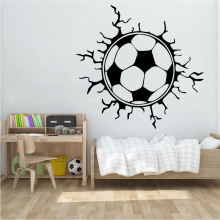 Creative Football Soccer Ball wall sticker sports boys bedroom Decoration Football Design Stickers Removable Vinyl Home Decor