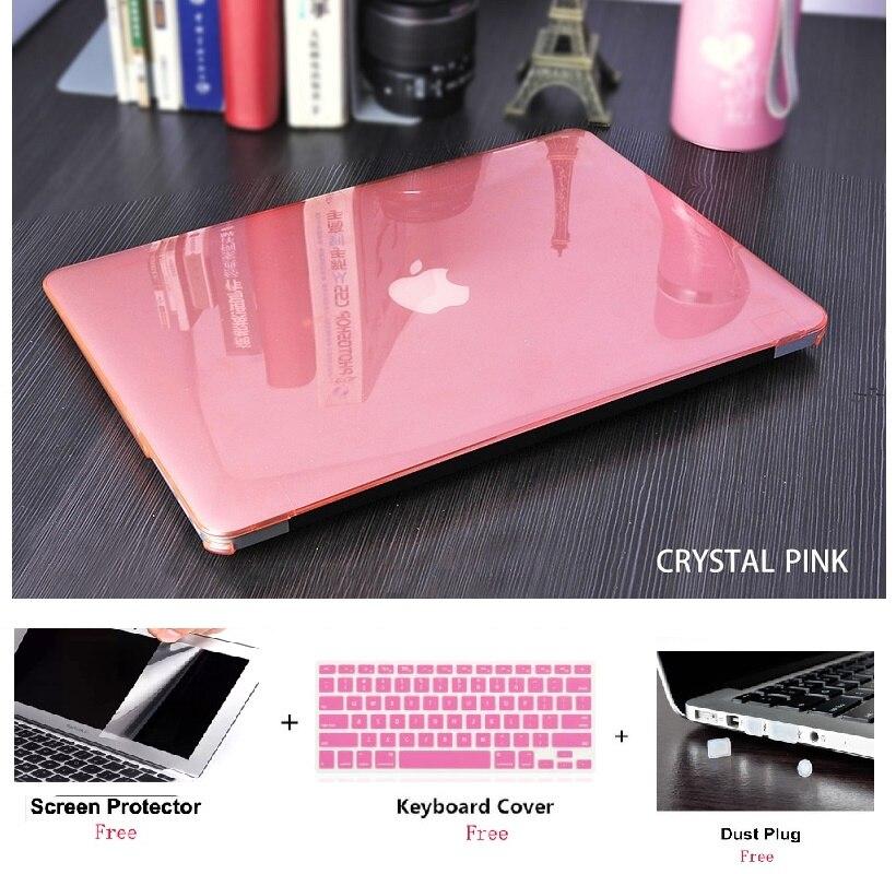 Capa dura transparente fosca, capa rígida para macbook air retina pro 11 12 13 15 16 touch bar a2141 a2159 13air a1932 a2179