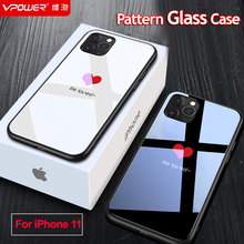 For 2019 iphone 11 iphone 11 pro max case Tempered Glass Phone protection cute smile phone cases for iphone 11 pro glass cover
