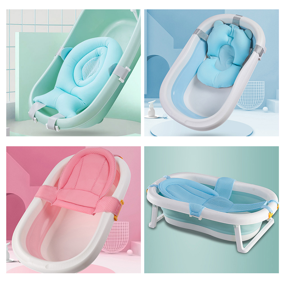 Easy Folding Baby Bath Tub With Non slip Cushion For Safe New Born Baby Bath Tub 14