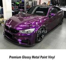 Emballage de voiture de la plus haute qualité, enveloppe en vinyle métallique brillant, violet, plusieurs couleurs, garantie de qualité
