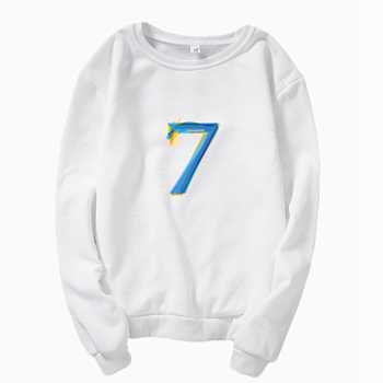 New kpop style sweatshirt map of the soul 7 itunes Round neck sweatshirt Bangtan Boys Fashion Women's Clothing Sweatshirt image