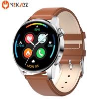 Reloj inteligente deportivo para hombre y mujer, pulsera resistente al agua con Bluetooth, Monitor de ritmo cardíaco de deporte, llamadas, Android e IOS, 2021