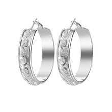 Fashion Exaggeration Silver Color Circle Hoop Earring Women's Minimalism Earrings for Women Wedding Jewelry Gifts luxury crystal hoop earrings 925 silver green stone women earrings jewelry wedding design earring gifts brinco