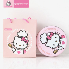 kitty cake Hello Kitty 16cm Cookie cake dessert round pastry box Nougat Valentine's Day present cute Lady Cat head Gift bags iron candy box