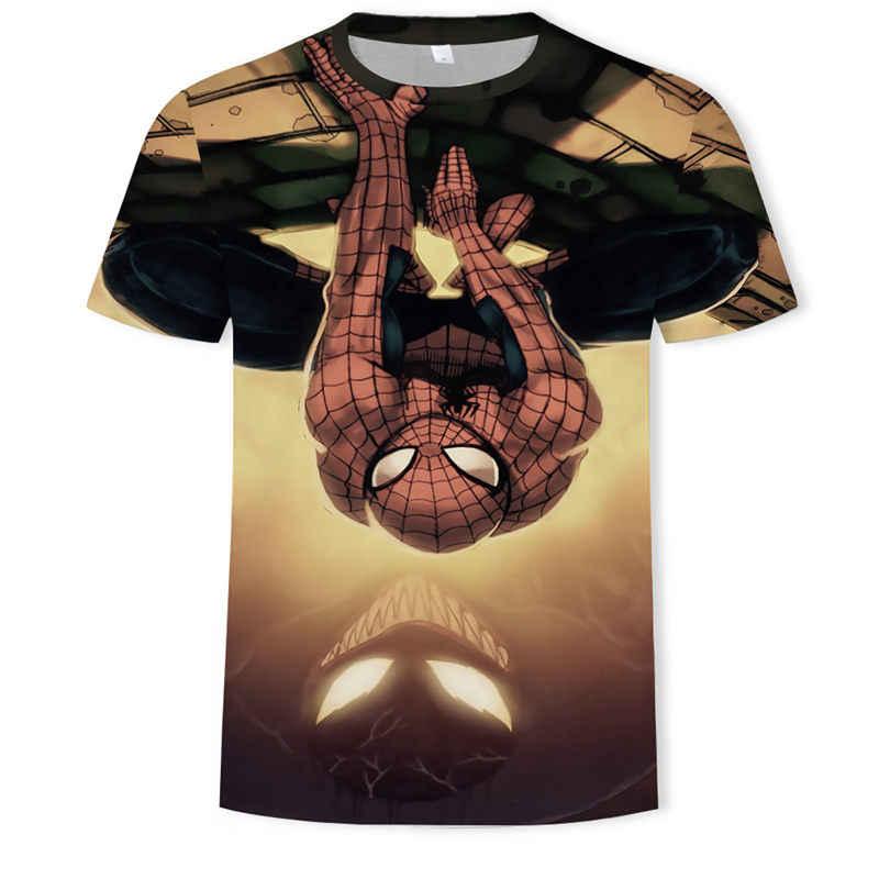 Spider Man 3D Gedrukte T-shirt Captain Amerika Burgeroorlog Tee Mannen Avengers Korte Raglanmouwen Fitness Cosplay Slim Fit tops Mannelijke