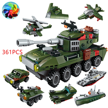 361PCS Tank Building Blocks Military Tank Army Soldier Warfare  Weapon Figures Blocks Gifts Toys for Boys цена 2017
