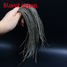 Royal Sissi 20feathers Whiting black&white grizzly fly tying rooster saddle feather 6 9Long 12# 16#dry fly tying saddle hackle