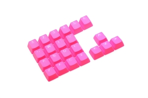 Image 4 - Taihao Rubber Gaming Keycap Set Rubberen Doubleshot Cherry Mx Oem Profiel 22 Sleutel Magenta Paars Neon Groen Geel Licht Blauw
