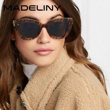 MADELINY Cat Eye Fashion Sunglasses Women Vintage Classic Cateye Sun Glasses Gradient Brand Designer Retro Eyewear UV400 MA056