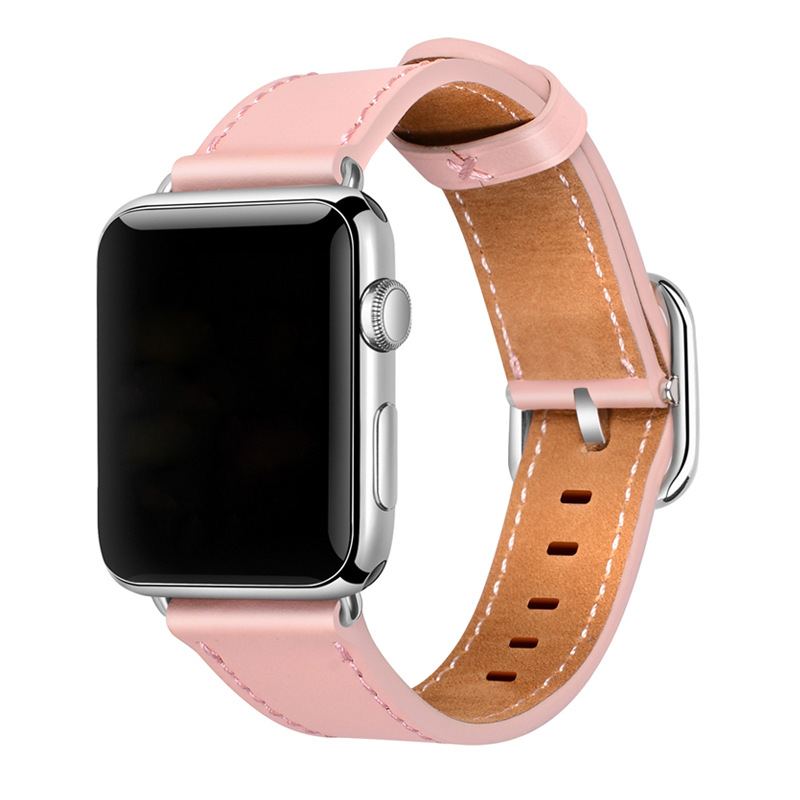 For Apple Watch Classic Square Buckle-Watch Strap Hermes Iwatch4 S Genuine Leather AppleWatch Band