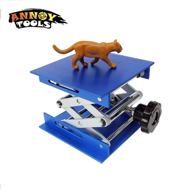 CNC Laser Engraving Machine Focus Adjustable LY 100*100 Mini Aluminum Alloy Lifting Platform For Desktop Max Adjust Height 110mm