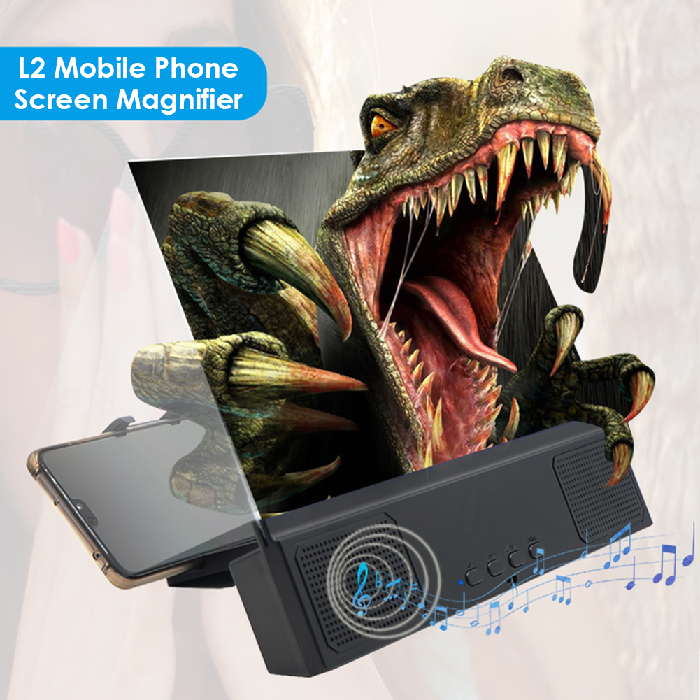 12 inch Mobile Phone Screen Amplifier Cell Phone Screen Magnifier Stand Bracket Foldable Holder Stand Video Amplifier