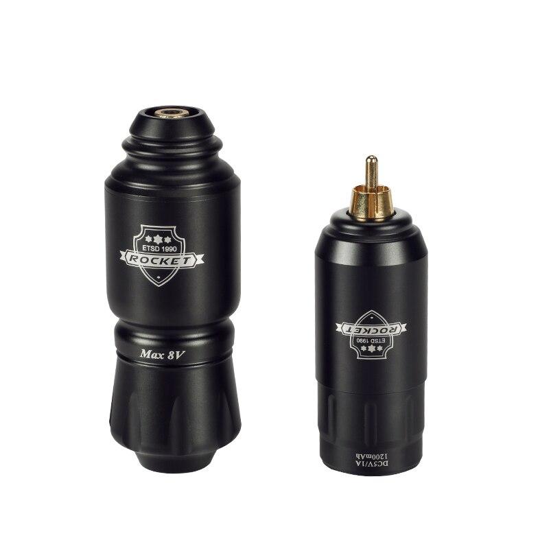 Rocket Mini Rotary Tattoo Machine Pen With Powerful Tattoo Power Supply Mini Wireless Tattoo Set Kit