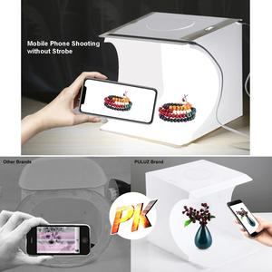Image 3 - PULUZ caja de luz LED de 2LED, Mini caja de estudio fotográfico, 1100LM de fotografía de caja de luz, Kit de caja de tienda de tiro para estudio y fondos de 6 colores