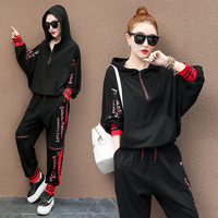 Runway TWO PIECE SET Hoodie Luxury Tracksuit Woman Korean Clothes Trendy Sweat Suits 2 Pieces Set Outfits Tops Pants Sweatshirt