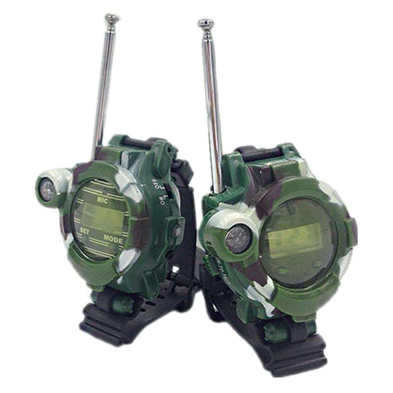 A Pair Kids Watch Camouflage Toy Mini Walkie Talkie Children Two Way Radio Handheld Radio Comunicador Woki Toki Gift Transceiver