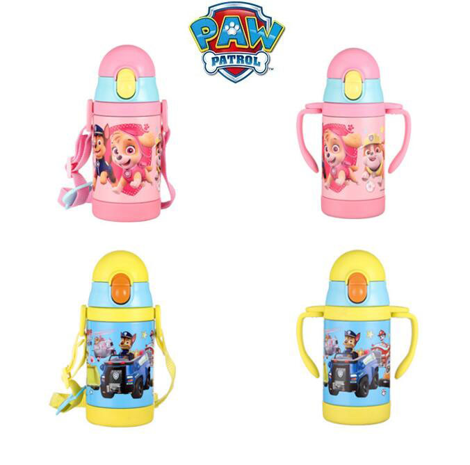 Genuine Paw Patrol Doll 304 Stainless Steel Vacuum Bottle Straight Cup Drinkware Thermal Water Bottle Vacuum Children Toy Gift