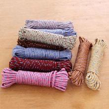 10 м нейлоновая веревка для белья, домашняя противоскользящая веревка для хранения одежды, сушильная веревка