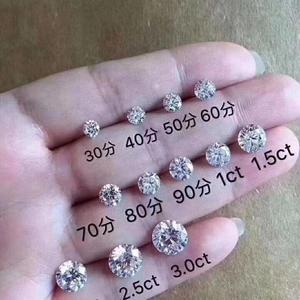 Image 5 - Round Moissanite white D VVS 1.00ct 6.5mm barestone custom Moissanite ring Pendants for naked diamond