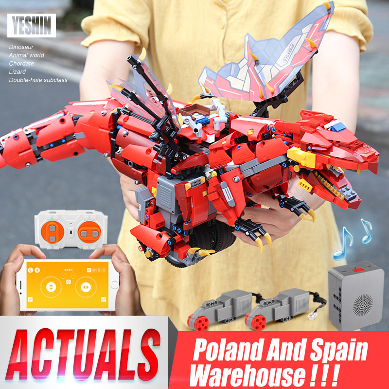 Yeshin App Voice Control Toys With Music Compaitble With <font><b>70612</b></font> Mecha Dragon Set Building Blocks Bricks Programming Kids Toys image