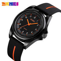 Reloj de cuarzo para Hombre de moda SKMEI marca 30 metros impermeable mujer Casual Simple reloj de pulsera reloj deportivo Hombre