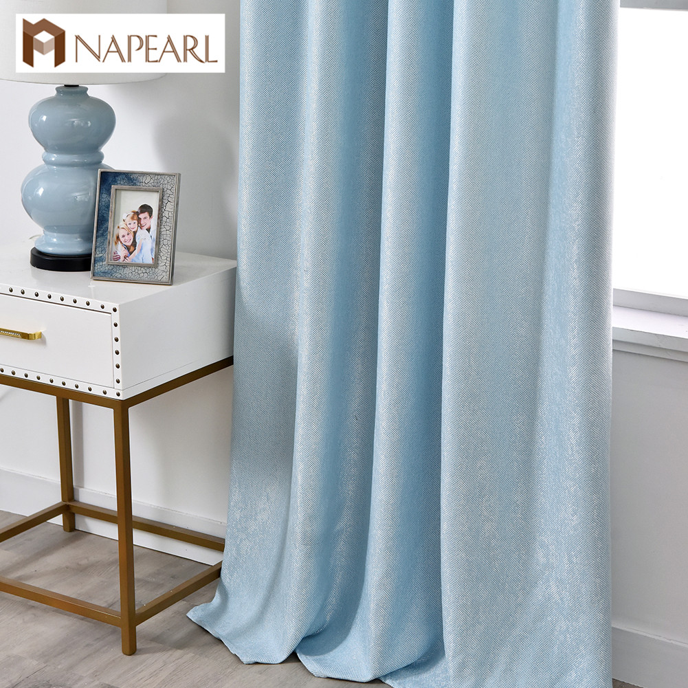 NAPEARL 1 Piece Modern Curtain Solid Color Blackout Curtains Custom Window Treatments Ready Multiple Colors Living Room Curtain