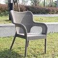 Всепогодный-дешевый-балкон-уличная-Мебель-стул-сад-пластиковый стул для наружного и внутреннего  анти-УФ-белый цвет