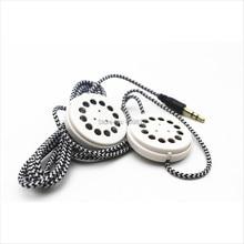 Linhuipad 베개 & 모자 듀얼 스피커 꼰 이어 버드 헤드폰 플랫 헤드 밴드 이어폰 3.5mm 스테레오 플러그