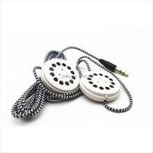 Linhuipad כרית & כובע כפול רמקולים קלוע Earbud אוזניות שטוח סרט אוזניות 3.5mm סטריאו תקע
