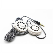 Linhuipad yastık ve şapka çift hoparlörler örgülü kulaklık kulaklık düz kafa bandı kulaklık 3.5mm stereo fiş