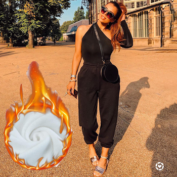 Rockmore Baggy Pencil Pants Women Plus Size Black Winter Wide Leg Sweat Pants Oversized Joggers Streetwear High Waisted Trousers 14