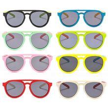 Детские солнечные очки мальчикам и девочкам, силиконовые очки солнечные очки тёмные очки для От 4 до 12 лет Детская R9CF