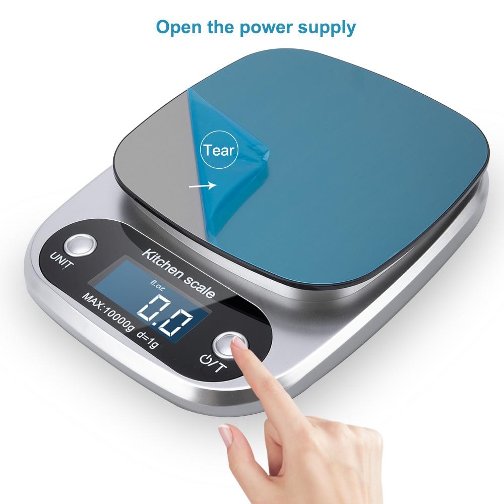 Принимает массу весом до 5 кг/10g Кухня цифровой шкалой ЖК-дисплей электронные весы 1g/0,1g для Еда весы измерительная Вес Весы Почтовый-0