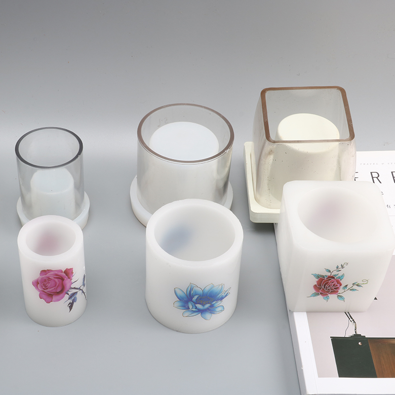 New DIY Cylindrical Hollow Handmade Candle Mold Square Candle Moulds Diy Candle Molds For Bedroom Decoration Lz26