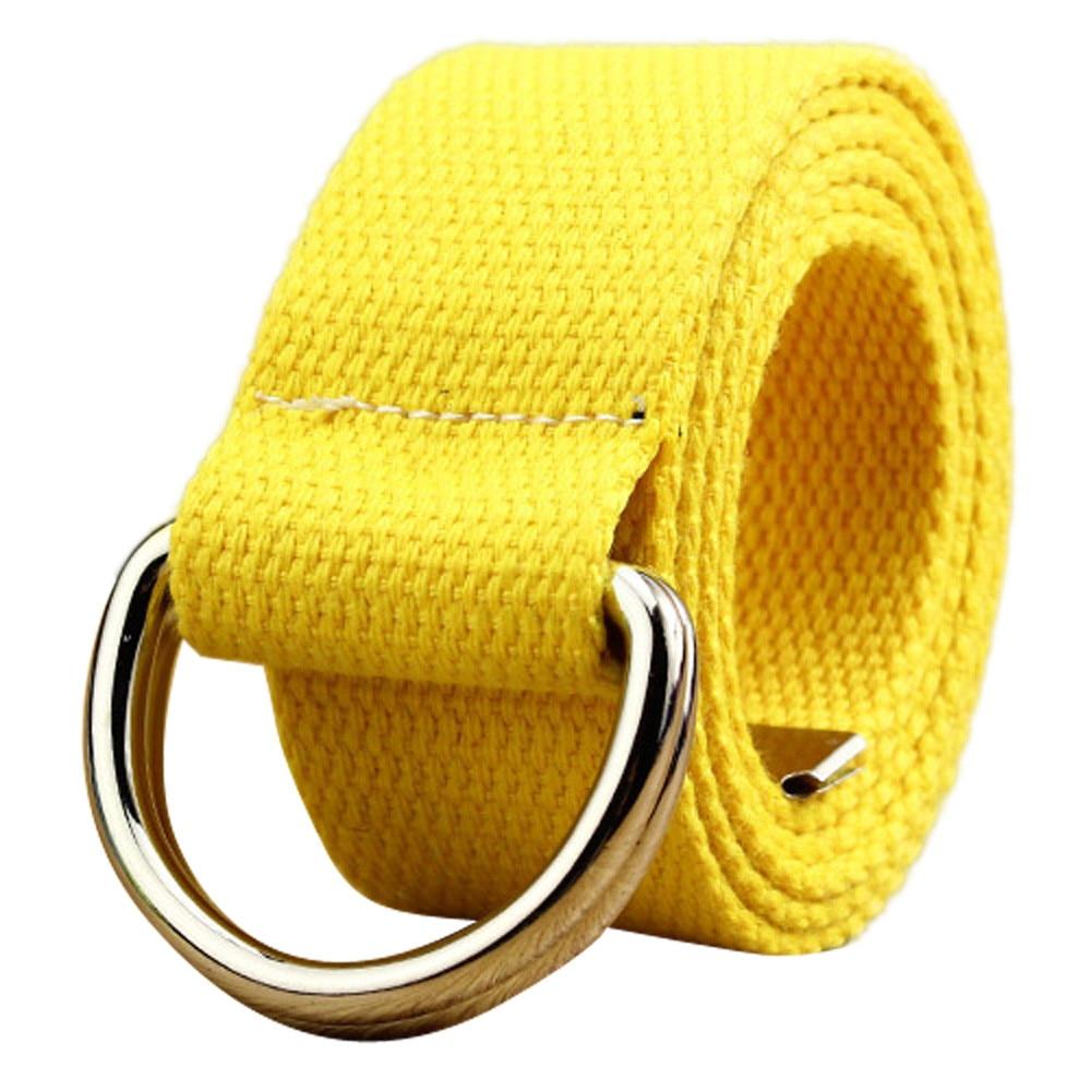 Double loop canvas belt men women students lovers