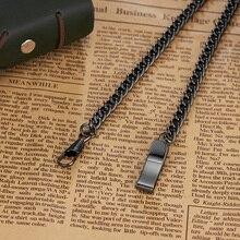 Новинка! карманные часы с цепочкой из нержавеющей стали, аксессуары для часов, серебристая черная бронза, золото, подарок
