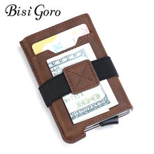 BISI GORO Anti-thef Card Holder RFID Credit Card Wallet Automatic Pouch for Credit Card Men and Women High Quality ID Case(China)